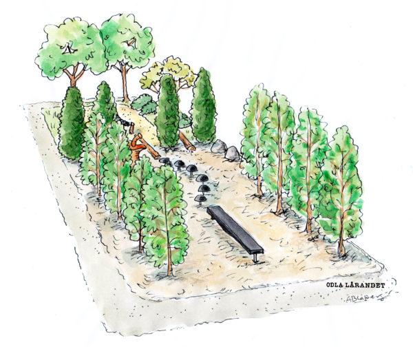 Motorikbana för skolgård-Woodwork AB