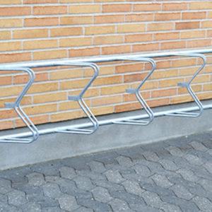 Cykelställ i galvaniserat stål med 5 platser –  CCLASSIC45M