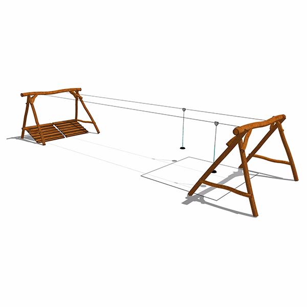 Dubbel linbana för lekplatsen - Woodwork AB