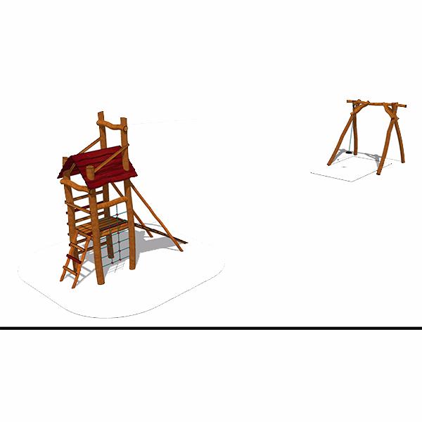 Linbana med torn - Woodwork AB