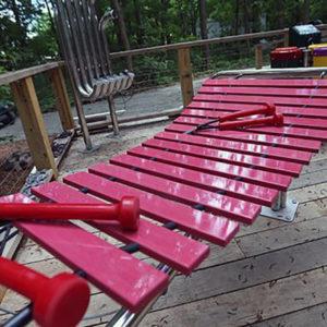 Marimba musikinstrument för utomhusbruk (M-Md)