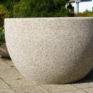 Planteringskruka i betong, rund (IP-ST05CR013)