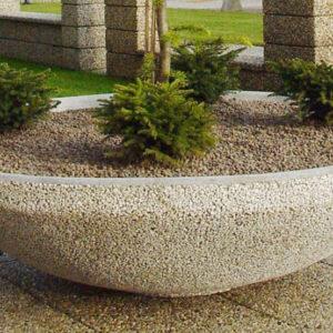 Planteringskärl i betong, oval (IP-ST05CR016)