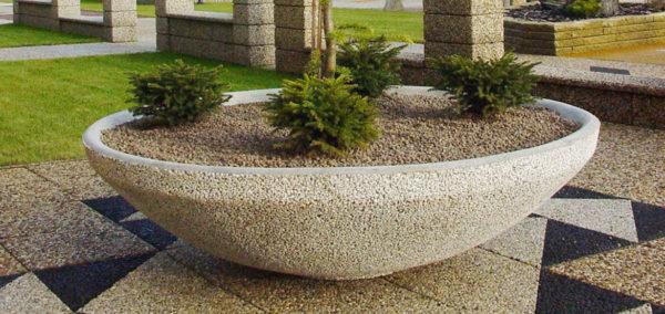 Planteringskärl i betong