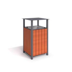 Papperskorg i galvaniserat stål (IP-KH03S007)