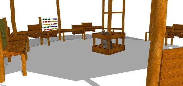 Åttkantigt aktivitets-& klassrum