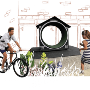 "Interaktiv lek: Energihjul ""CirkelHus""- skapar energi(E4)"